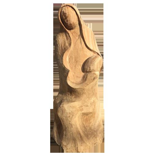 sculpture bois vierge enfant st maurice pellevoisin hospice